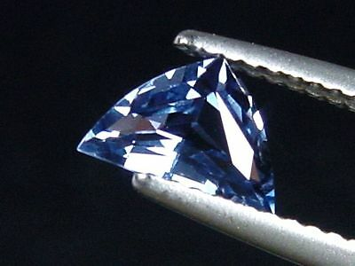 Blauer Spinell / blue Spinel 0,96 Ct Trillion Tansania (3132m)