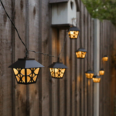2.7M Solar Powered Outdoor Garden Party Fence Fairy String Lantern Led Lights