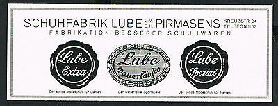 Schuhfabrik LUBE GmbH Pirmasens 1927 Reklame (38) advertising