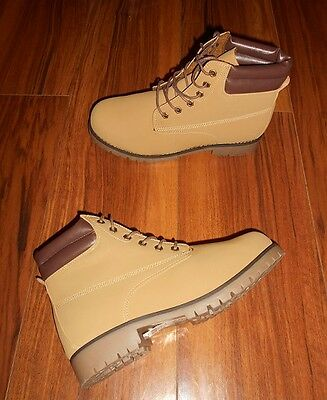 Womens Trendy Stylish New Lace Up Casual Beige Brown Ankle Boots: Uk Size 6 (39)