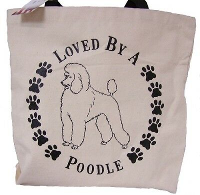 Loved By A Poodle Tote Bag New  MADE IN USA