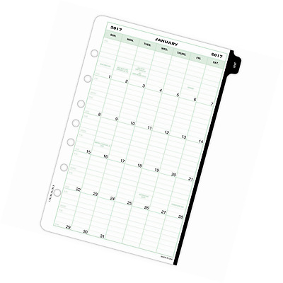"Day-Timer Weekly Planner Refill 2017, Two Page Per Week, 5-1/2 x 8-1/2"", Desk Si"