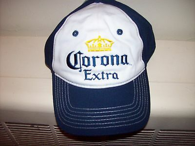 Corona Extra Snap Back Type Hat New With Tags White and Blue