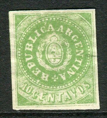 ARGENTINA;  1860s early classic Imperf issue Mint unused 10c. value