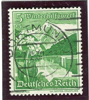 GERMANY;  1938 early Winter Relief issue fine used 5pf. value