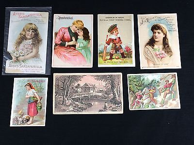 7 Victorian Trade Cards Prudential Niagara Starch 1887