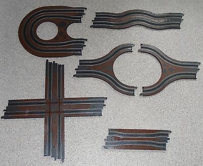 Micro Scalextric Hazard Track 6 Pieces. Crossover, Island Chicane, Hairpin ++