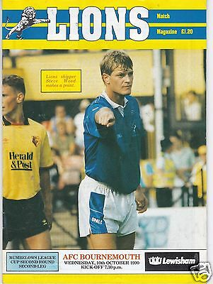 Millwall V Bournemouth  League Cup 10/10/90