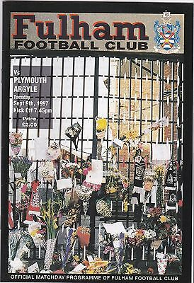 Fulham V Plymouth Argyle 2Nd Division 9/9/97