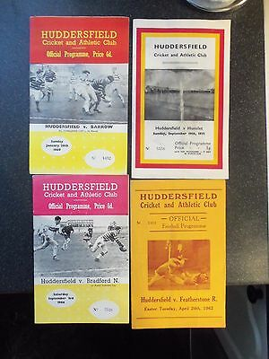 4 Huddersfield Rugby League Programmes 60S/70S