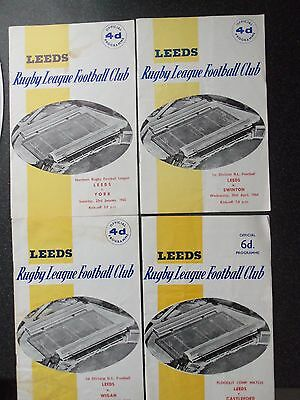 4 LEEDS RL HOME MATCHES FROM 1960s