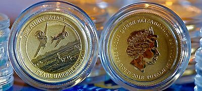2016 1/10th oz Pearl Harbor Tuvalu Perth Mint Australia Gold Coin In Capsule