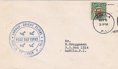 Philippine Islands : London - Orient Flight, First Day Cover (1928)