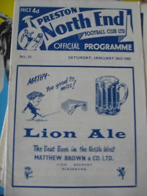 1964-65 Preston North End v Bolton Wanderers FA cup 4th round 30.1.1965