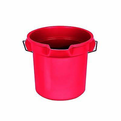 Rubbermaid Commercial Brute Round Bucket 14 Quart Red FG261400RED New