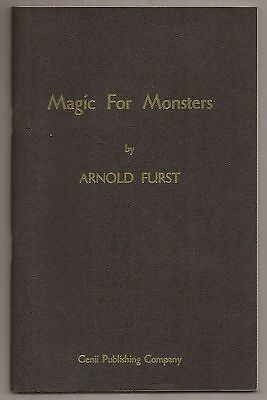 MAGIC FOR MONSTERS by Arnold Furst 1960