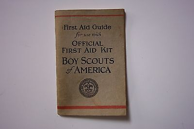 1928 First Edition Boy Scouts Of America First Aid Guide