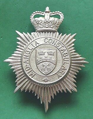 OBSOLETE MID-ANGLIA CONSTABULARY HELMET PLATE / BADGE - police