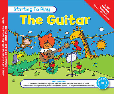 MUSIC FOR KIDS: Starting To Play Guitar Book & CD Guitar