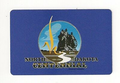 bridg size deck of souvenir playing cards from North Dakota Centennial 1889-1989