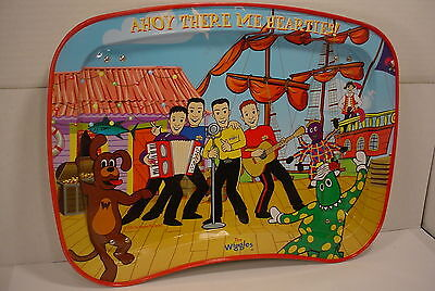 The Wiggles Ahoy There Me Hearties metal TV food play tray kids lap table 2004