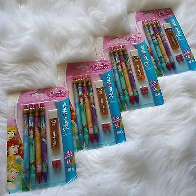 4 New PAPER MATE Disney Princess Mechanical Pencils Kit 1.3mm, HB # 2