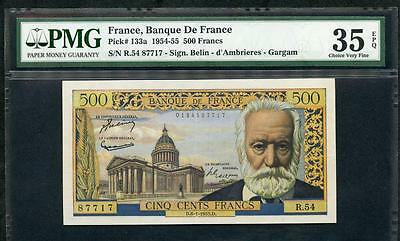 1955 FRANCE BANQUE DE FRANCE 500 FRANCS  PCK 133a PMG 35 EPQ PLEASE LQQK!*