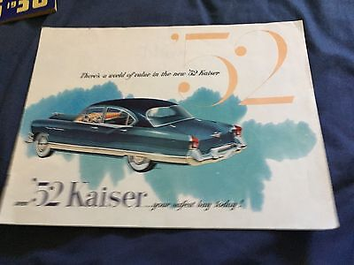 1952 Kaiser Manhattan Full Line Color Original Brochure Prospekt