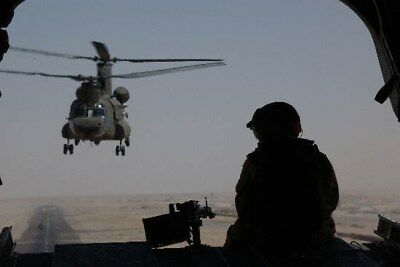 2004 MR CH-47 Chinooks Depart Kandahar Air Base for Uruzgan Province Photo