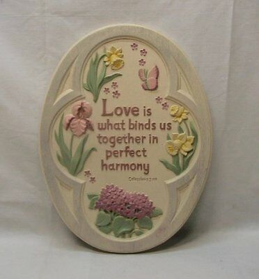 """Home Interior Homco"""" Beautiful Love is What Binds Us Together Plaque""""Colossions"""