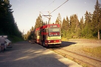 Photo  1995 Norway Tram Trondheim Lian Tram No 91 On Route 1