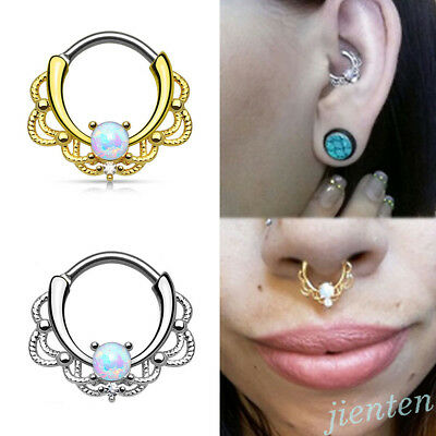 Surgical Steel Daith Piercing Nose Septum Ring Stud Hoop Cartilage Body Jewelry
