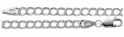 14K White Gold Charm Bracelet 7 Inches Long   CH330