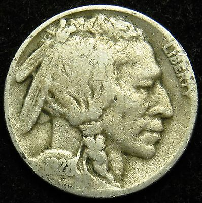 1928 S Buffalo Indian Head Nickel G Good (B03)