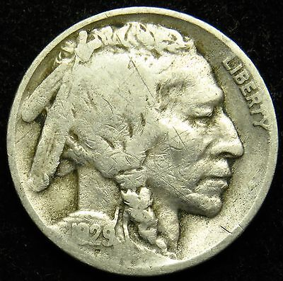 1929 D Buffalo Indian Head Nickel G Good (B01)