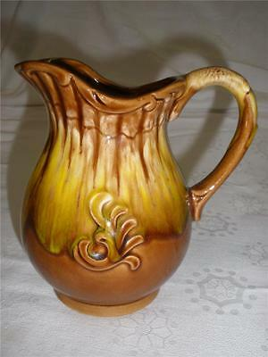 Stunning Drip Glaze Porcelain Jug Brown Made In Japan