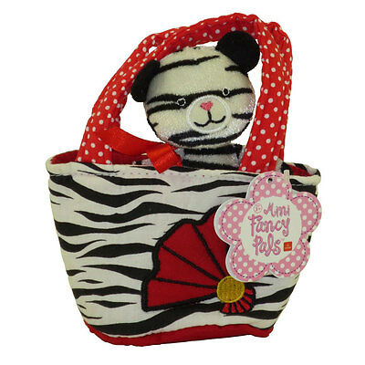 Aurora World Plush - Mini Fancy Pals Pet Carrier - WHITE TIGER in Tiger Print