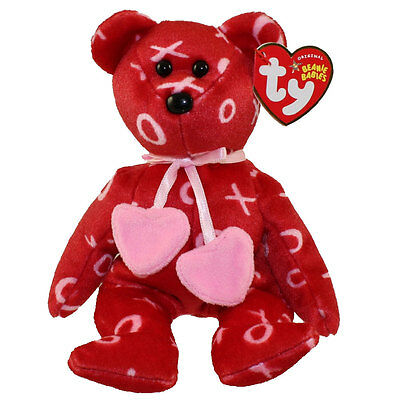 TY Beanie Baby - KISS-KISS the Bear (8.5 inch) - MWMTs Stuffed Animal Toy