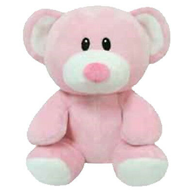 Baby TY - PRINCESS the Pink Bear (Regular Size - 7 inch) - MWMTs BabyTY Plush