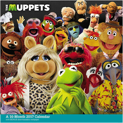 Walt Disney: The Muppets 16 Month 2017 Wall Calendar with Download NEW SEALED