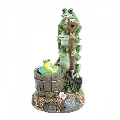 Adorable Solar Light & Rotating Frog Garden Shovel Gnome Statue Home Decor NEW