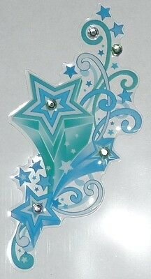 Blue/Green Shooting Stars Sticker for Apple iPhone/iPad/iPod  Smart Phone Decal