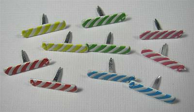BRADS CANDLES pk of 6 birthday cake party split pin craft scrapbooking