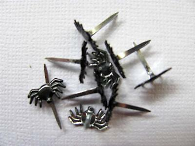 BRADS MINI SPIDERS pk of 8 halloween animal insect split pin craft scrapbooking