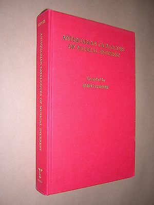 ANTIQUARIAN CATALOGUES OF MUSICAL INTEREST. JAMES COOVER. 1988 1st EDITION HB