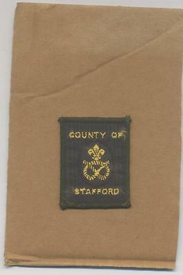 Boy Scout County District Cloth Badge-County Of Stafford