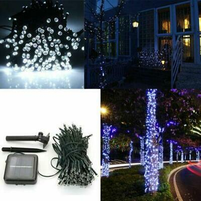 100 LED Solar Power Fairy Light String Lamp Party Xmas Garden Outdoor Cool White