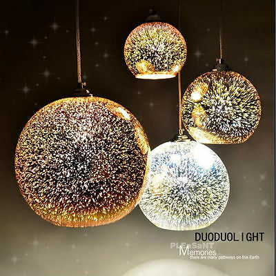 Modern Hanging 3D Colored Glass Ceiling Lights Pendant Lamp Chandeliers 3113HC