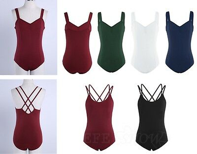 Adult Lady Womens Ballet Tank Dance Leotard Costume Gymnastics Unitards Bodysuit