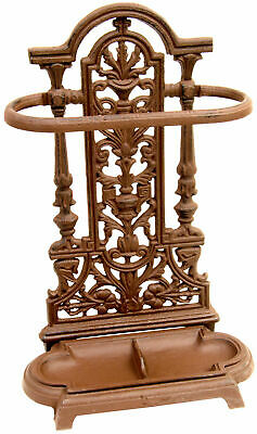 Woodside Ornate Vintage Cast Iron Umbrella/Walking Stick Stand
